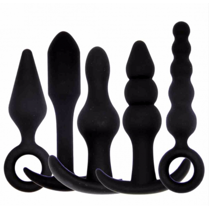5 in 1 Silicone Tail Anal Plug Butt Plug Slave Anal Expander Women Men Gay Sex Toys BDSM Erotic Sex Products